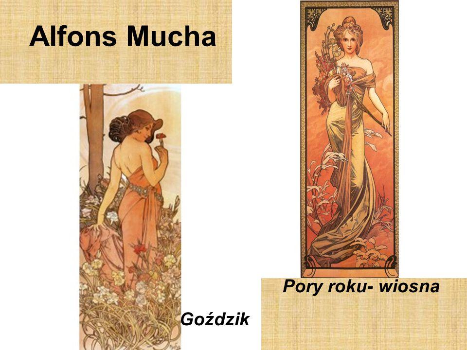 Alfons Mucha Pory roku- wiosna Goździk