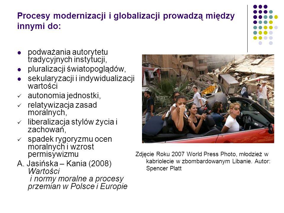Procesy modernizacji i globalizacji prowadzą między innymi do: