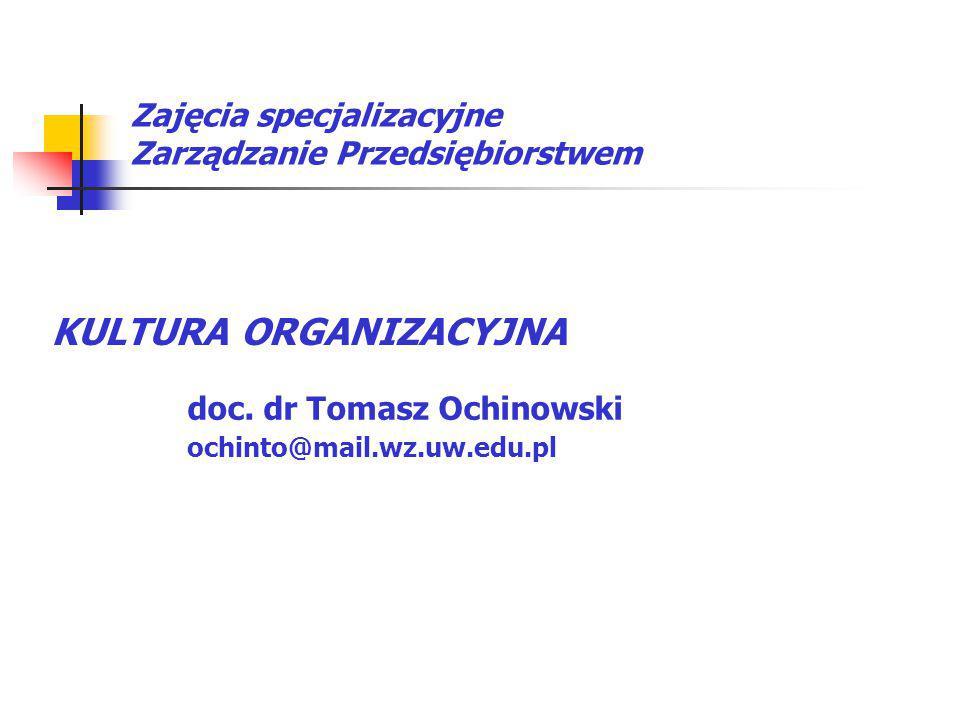 Zajęcia specjalizacyjne Zarządzanie Przedsiębiorstwem