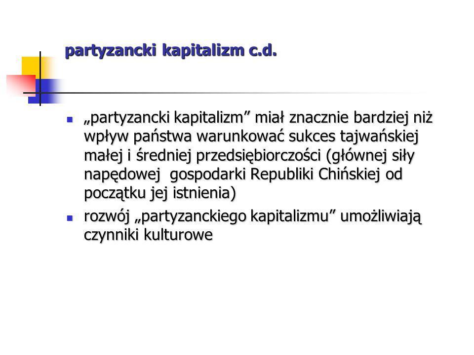 partyzancki kapitalizm c.d.