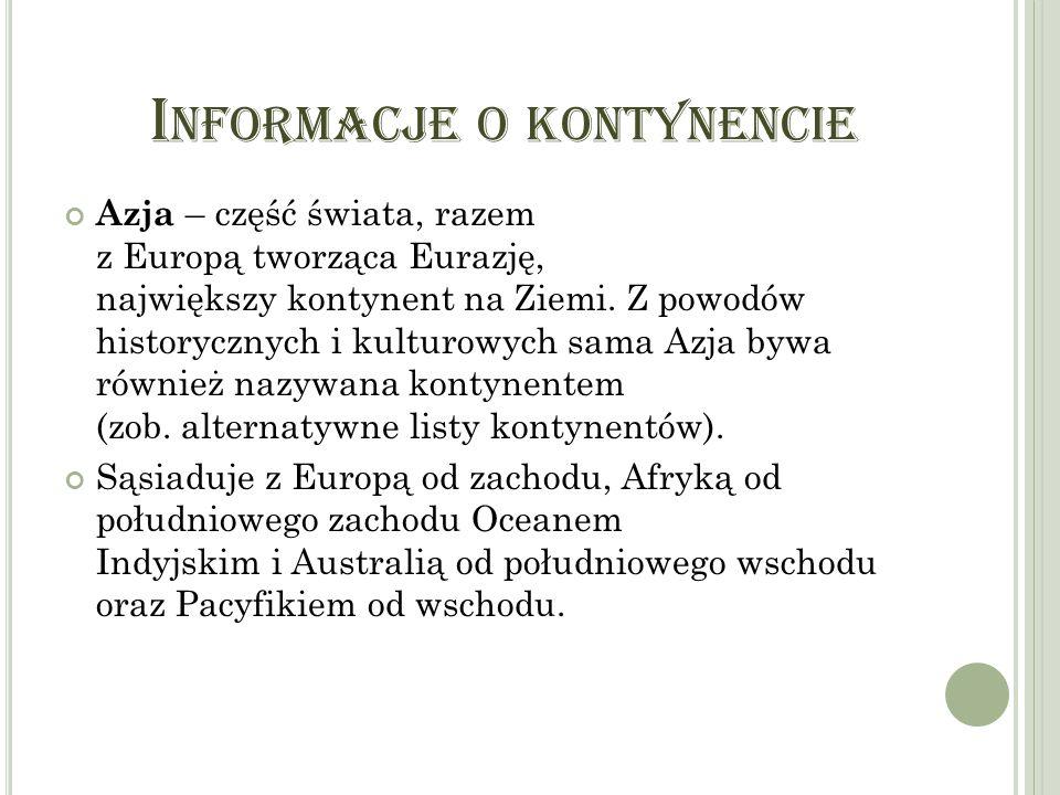 Informacje o kontynencie