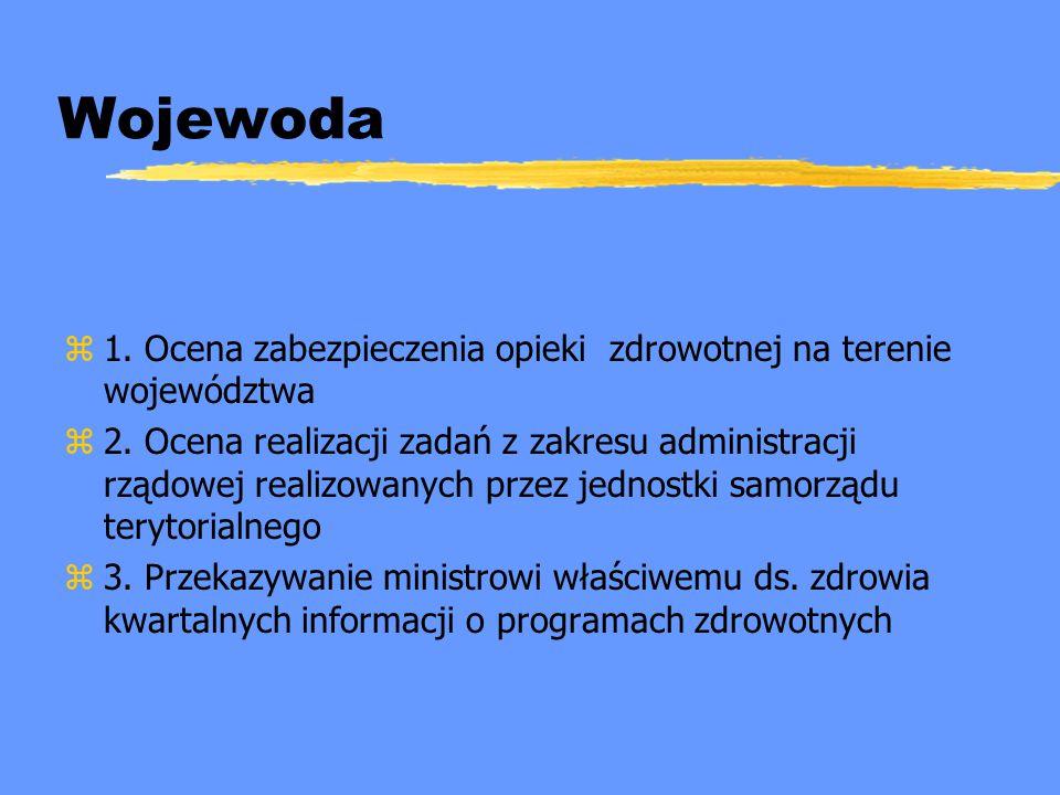 Wojewoda 1. Ocena zabezpieczenia opieki zdrowotnej na terenie województwa.