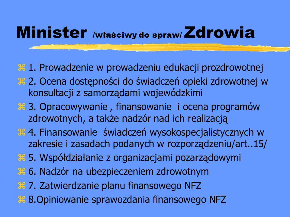 Minister /właściwy do spraw/ Zdrowia