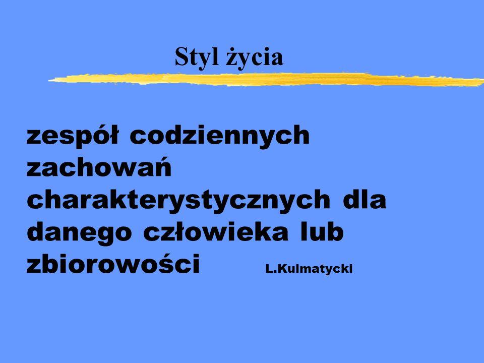 zespół codziennych zachowań charakterystycznych dla danego człowieka lub zbiorowości L.Kulmatycki