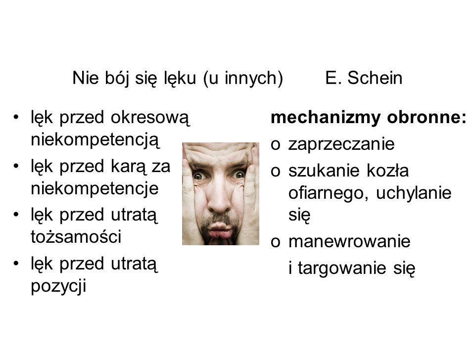 Nie bój się lęku (u innych) E. Schein