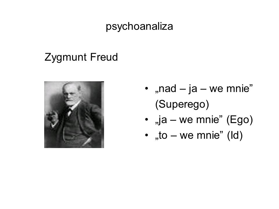 psychoanaliza Zygmunt Freud.