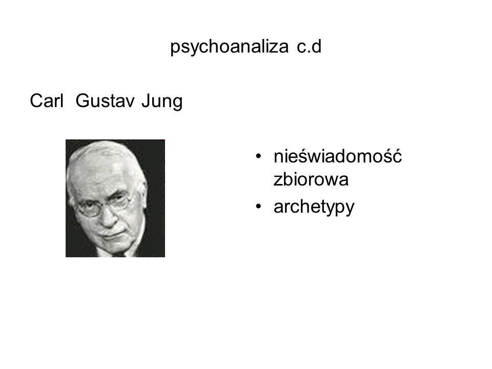 psychoanaliza c.d Carl Gustav Jung nieświadomość zbiorowa archetypy