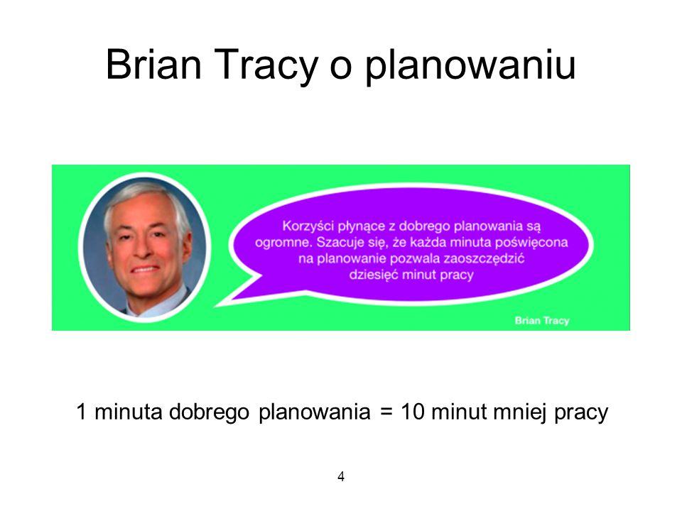 Brian Tracy o planowaniu
