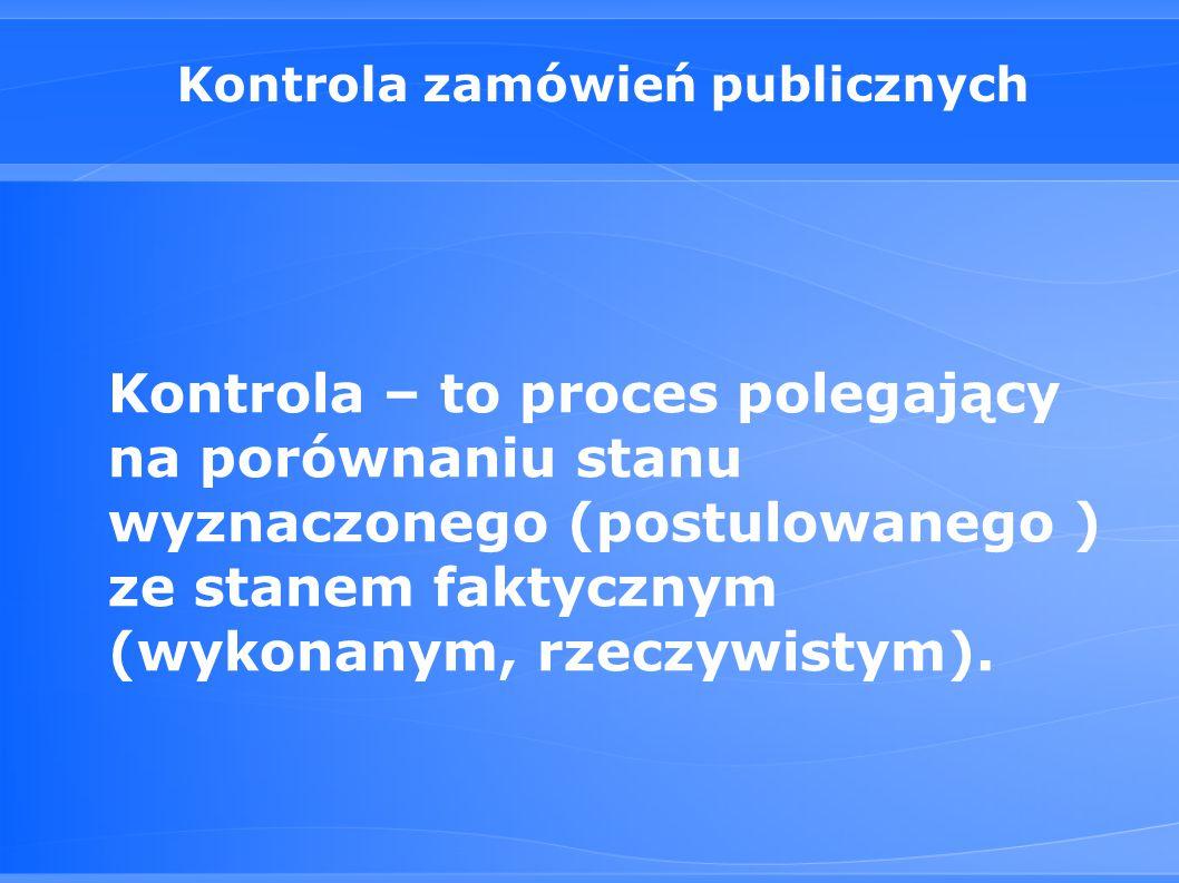 Kontrola zamówień publicznych