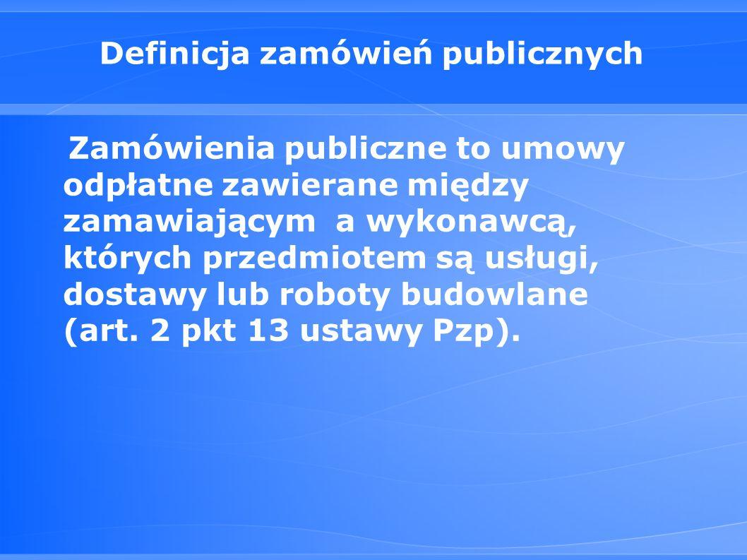 Definicja zamówień publicznych