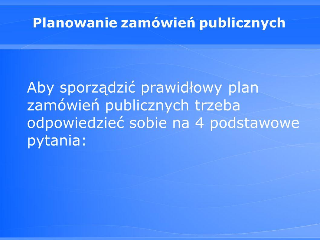 Planowanie zamówień publicznych