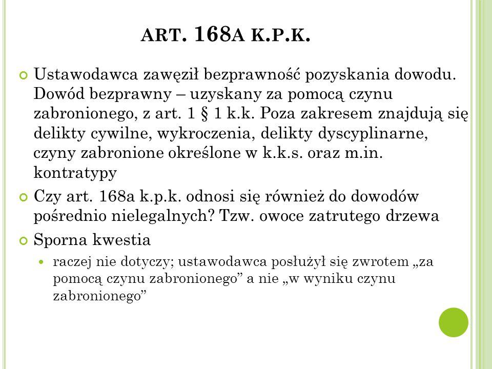 art. 168a k.p.k.