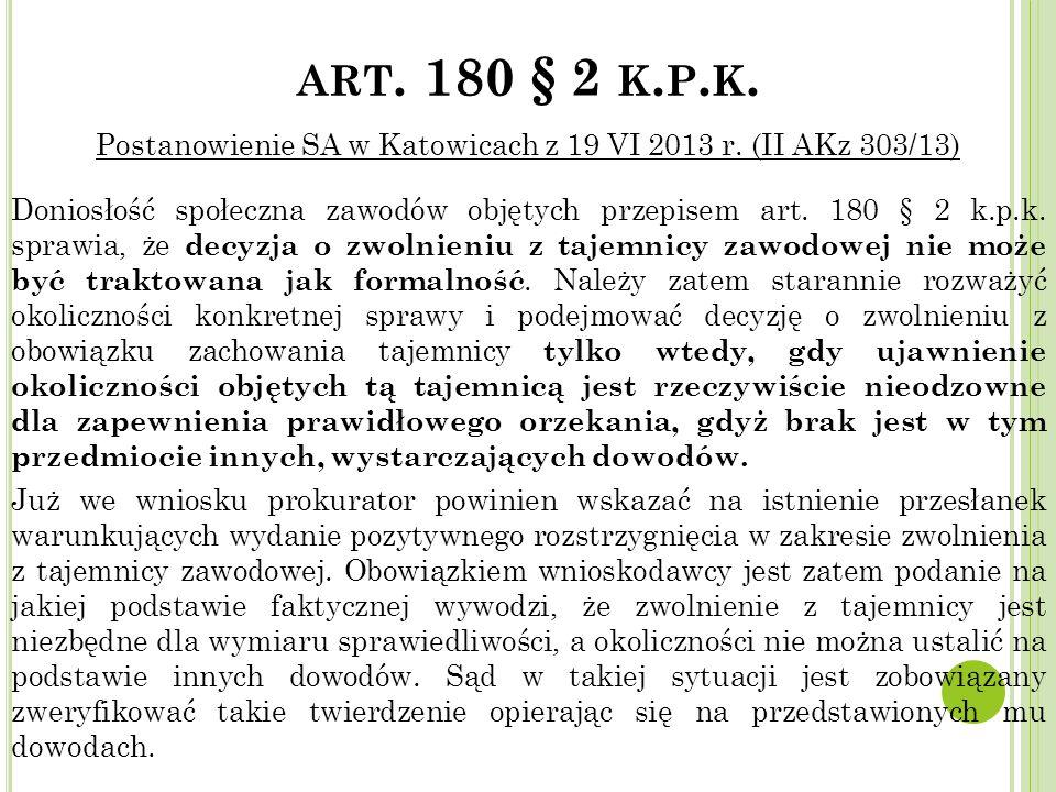 art. 180 § 2 k.p.k.