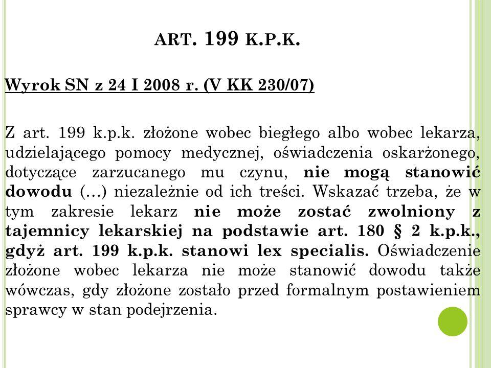 art. 199 k.p.k.