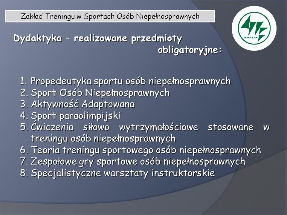 Zakład Treningu w Sportach Osób Niepełnosprawnych