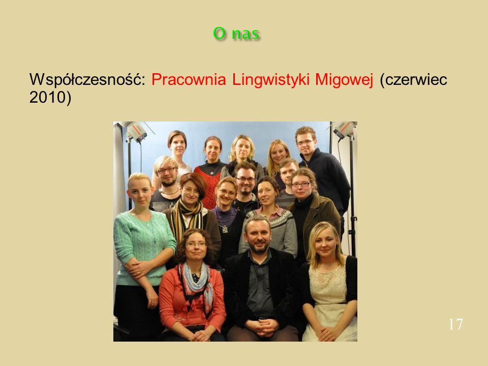 Współczesność: Pracownia Lingwistyki Migowej (czerwiec 2010)