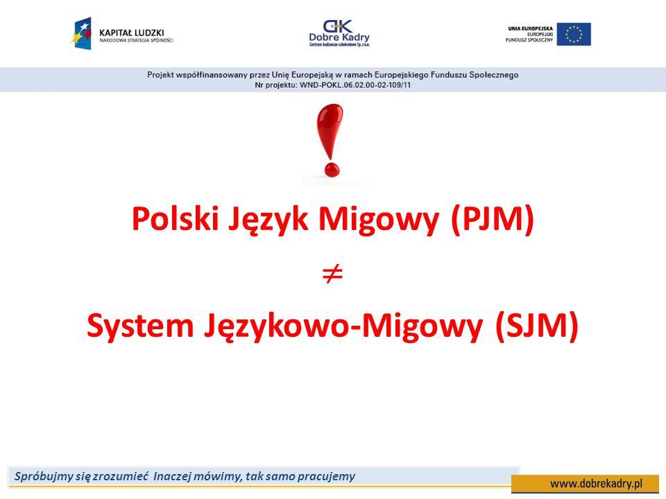Polski Język Migowy (PJM)  System Językowo-Migowy (SJM)