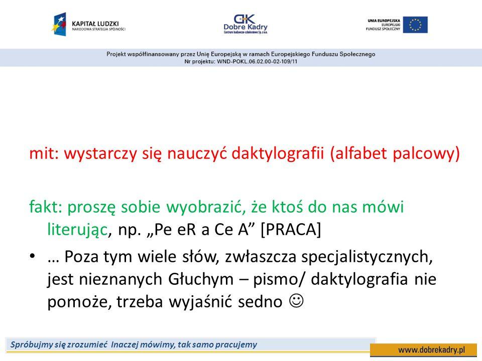 mit: wystarczy się nauczyć daktylografii (alfabet palcowy)