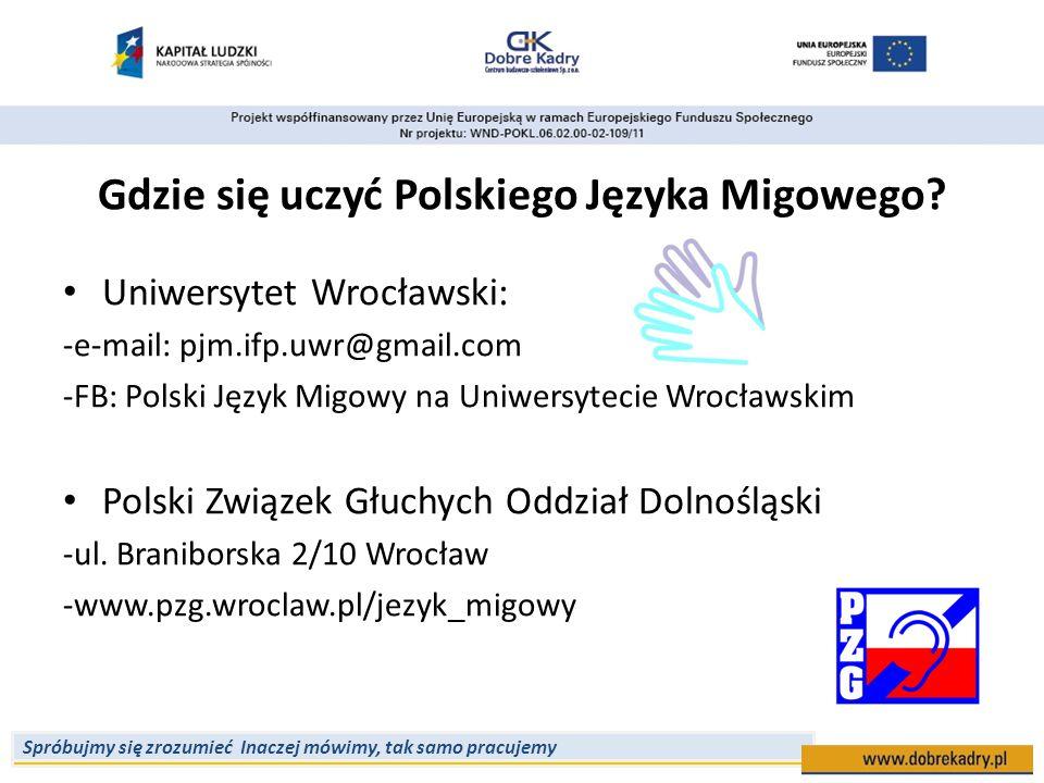 Gdzie się uczyć Polskiego Języka Migowego