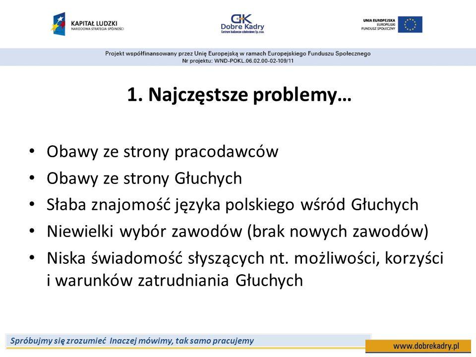 1. Najczęstsze problemy…