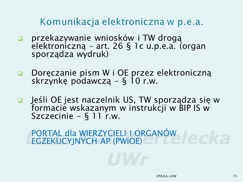 Komunikacja elektroniczna w p.e.a.