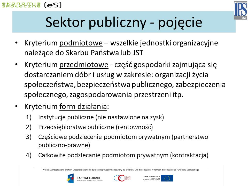 Sektor publiczny - pojęcie