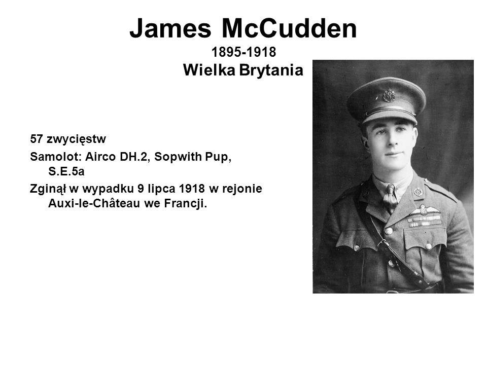 James McCudden 1895-1918 Wielka Brytania