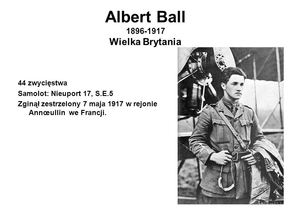 Albert Ball 1896-1917 Wielka Brytania