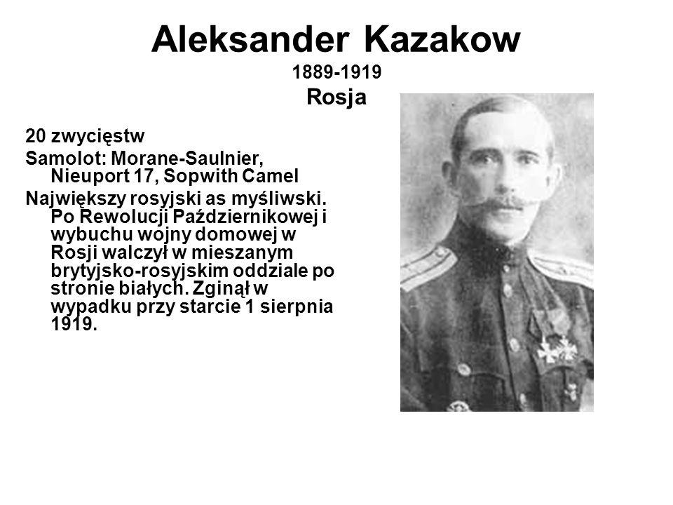 Aleksander Kazakow 1889-1919 Rosja