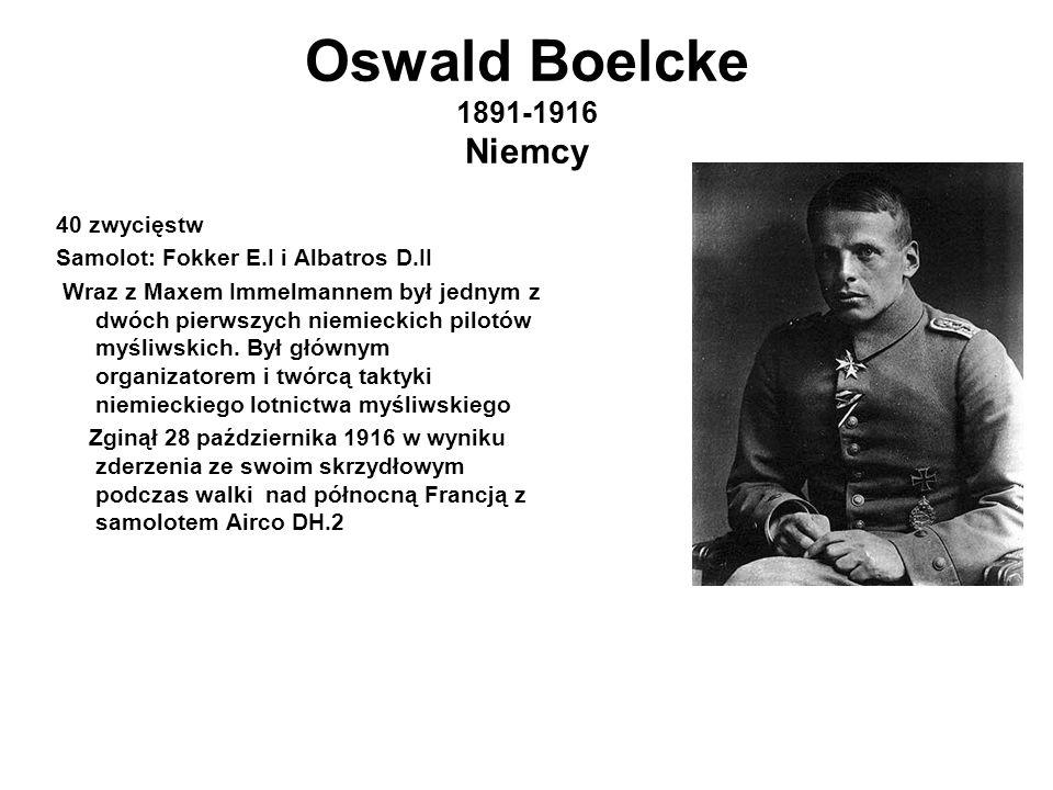 Oswald Boelcke 1891-1916 Niemcy