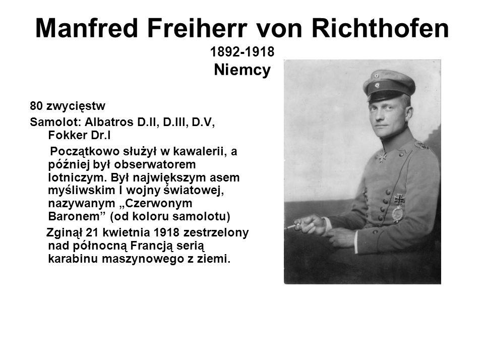 Manfred Freiherr von Richthofen 1892-1918 Niemcy