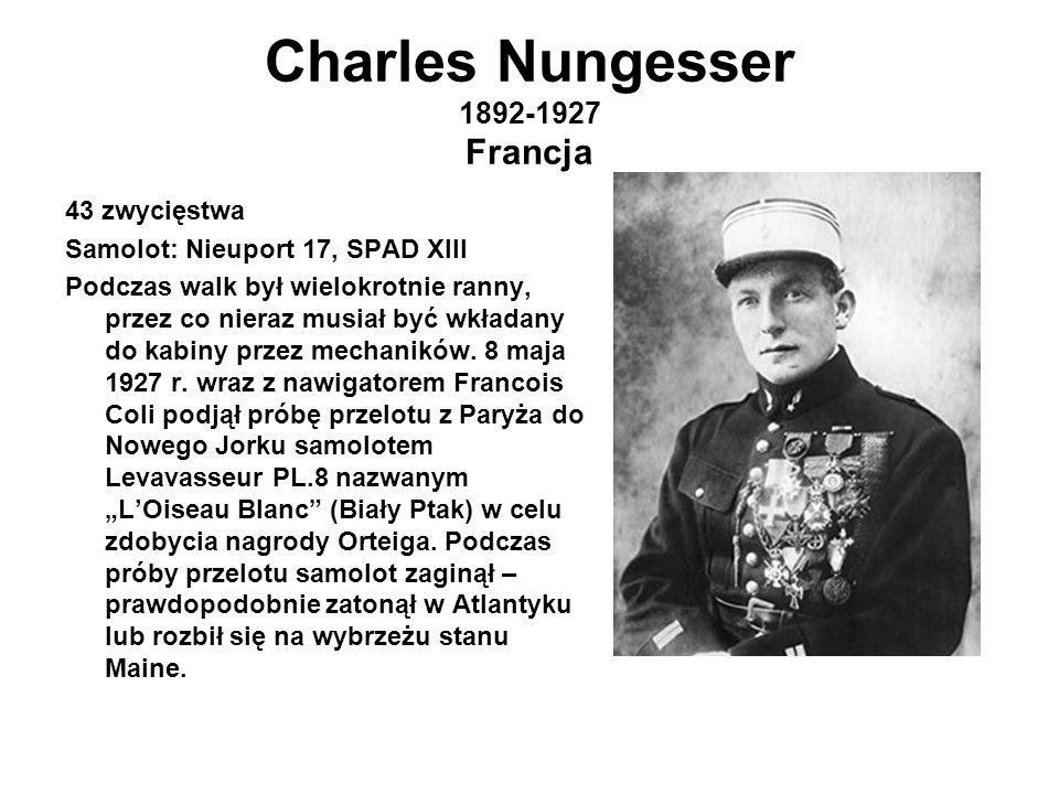 Charles Nungesser 1892-1927 Francja