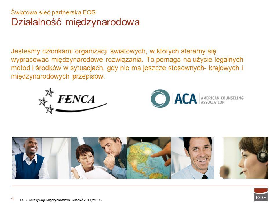 Światowa sieć partnerska EOS Działalność międzynarodowa