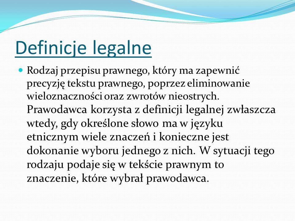 Definicje legalne