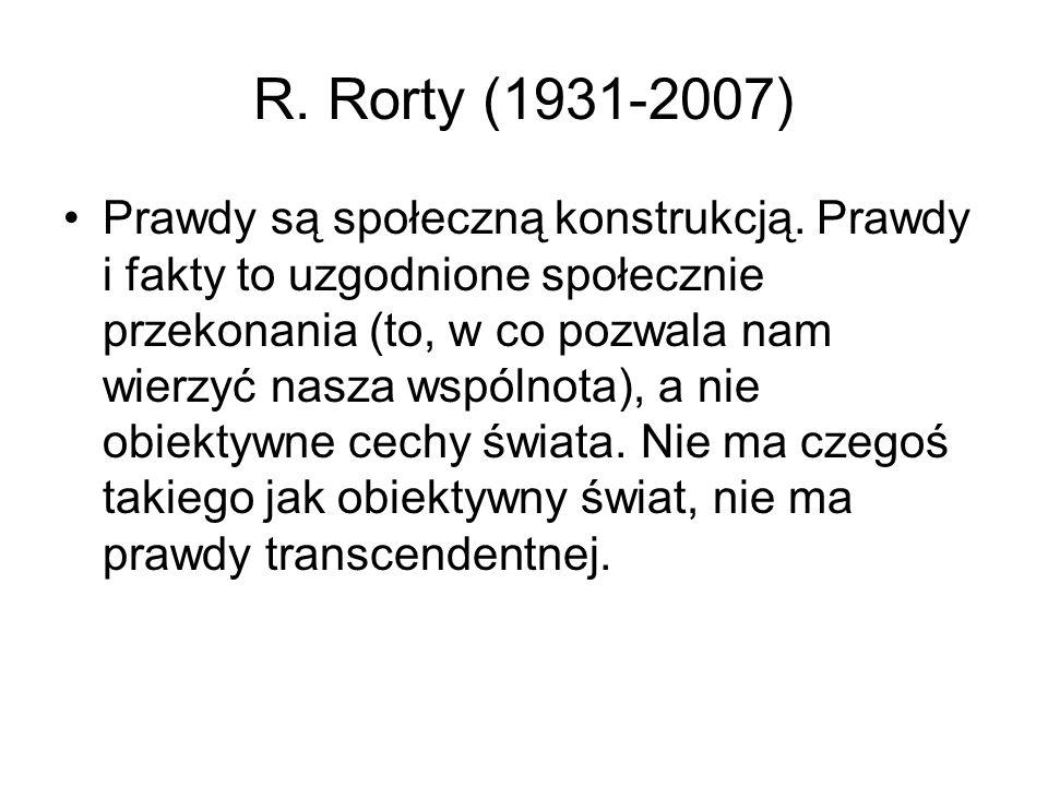 R. Rorty (1931-2007)