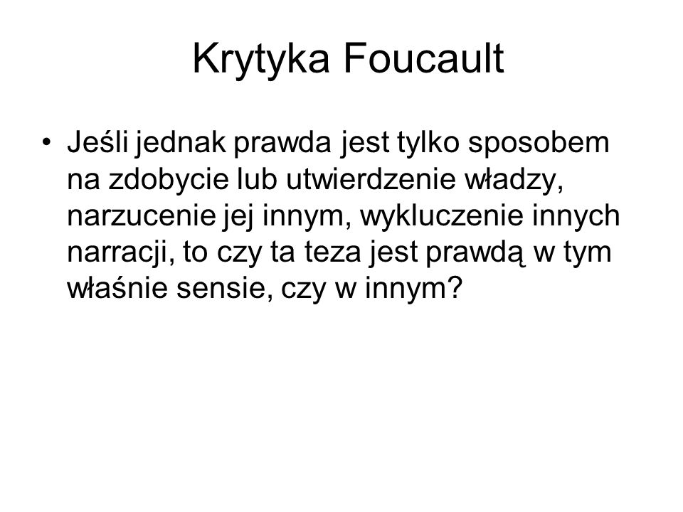 Krytyka Foucault