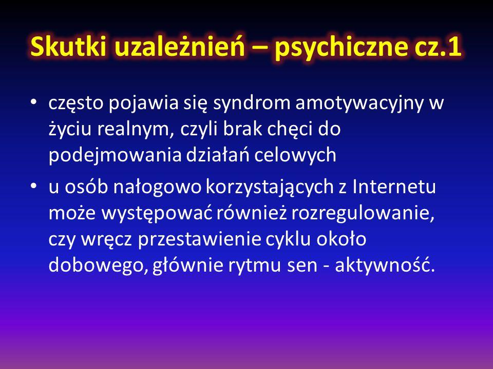 Skutki uzależnień – psychiczne cz.1