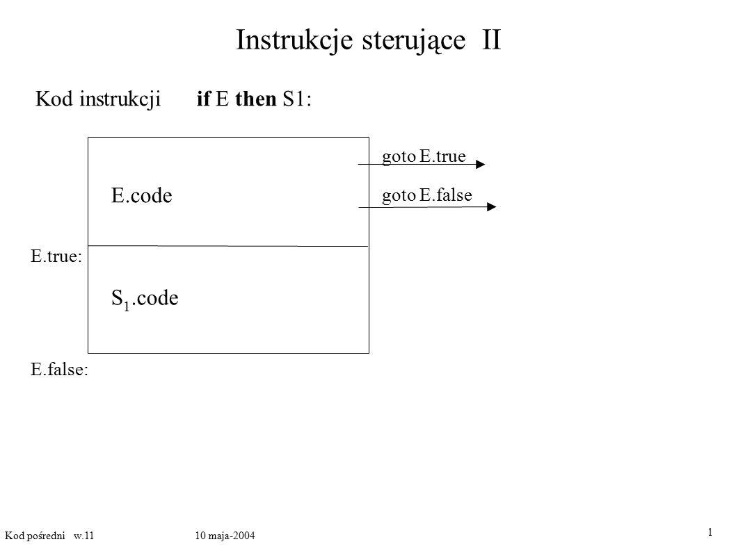 Instrukcje sterujące II