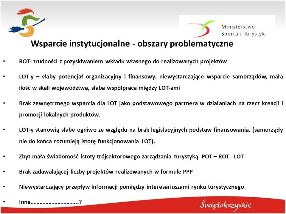 Wsparcie instytucjonalne - obszary problematyczne