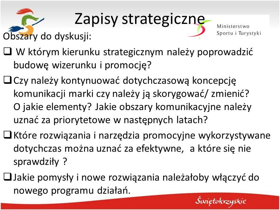 Zapisy strategiczne Obszary do dyskusji:
