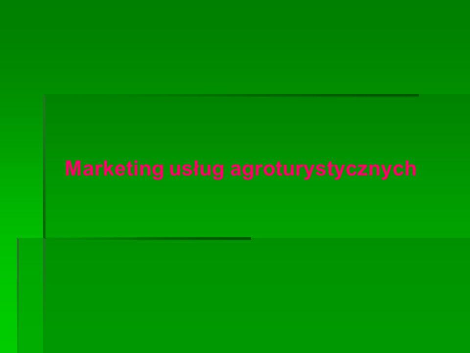 Marketing usług agroturystycznych