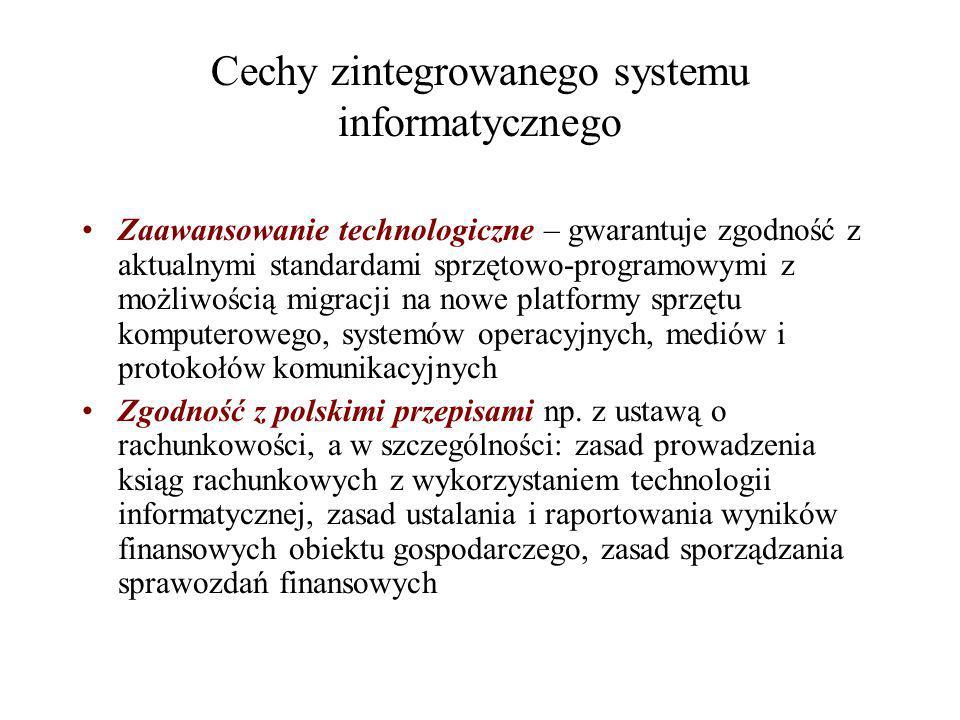 Cechy zintegrowanego systemu informatycznego