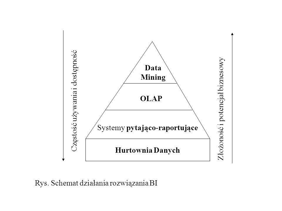 Data Mining Częstość używania i dostępność. OLAP. Złożoność i potencjał biznesowy. Systemy pytająco-raportujące.