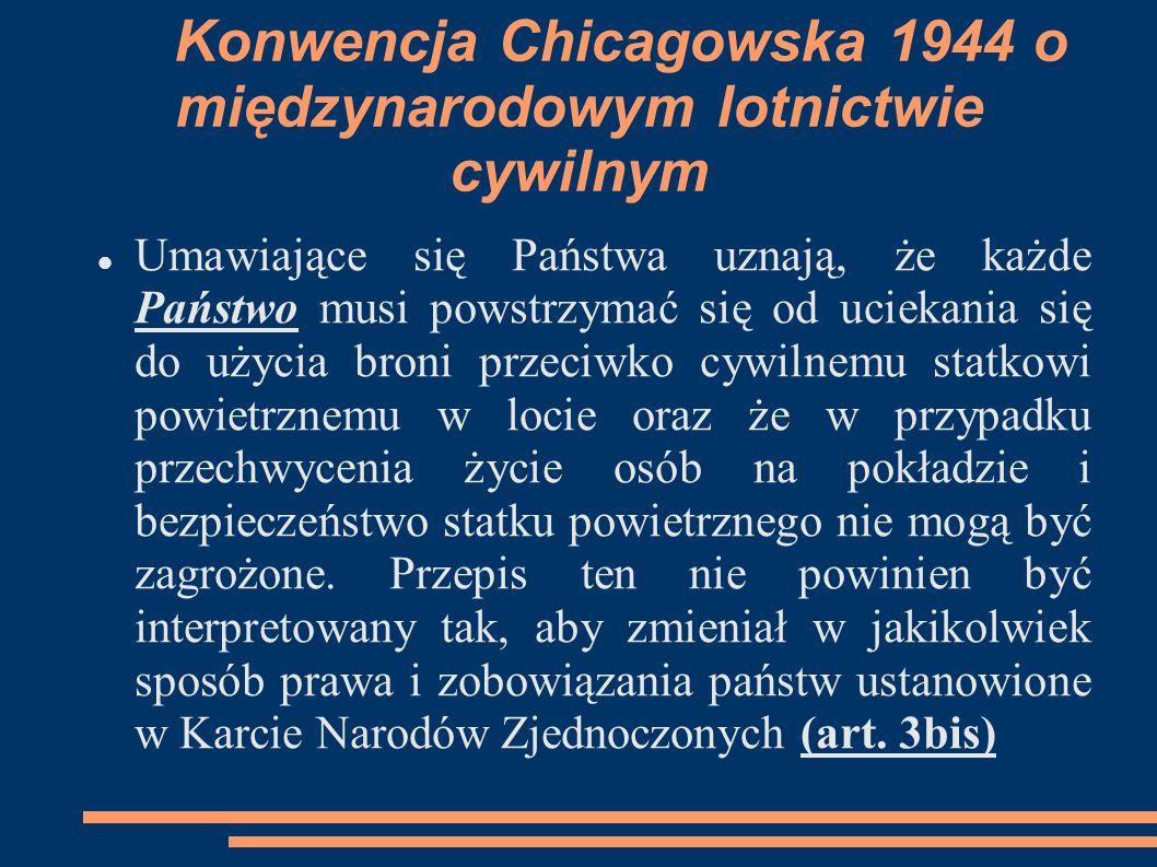 Konwencja Chicagowska 1944 o międzynarodowym lotnictwie cywilnym