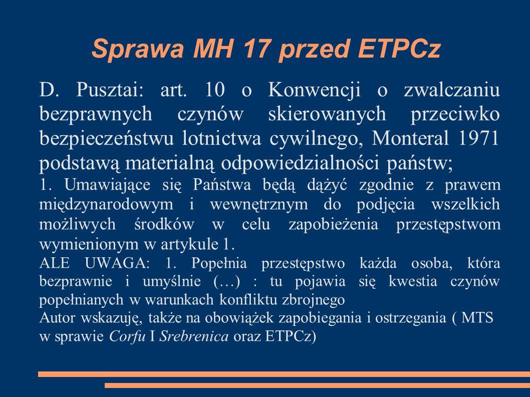 Sprawa MH 17 przed ETPCz