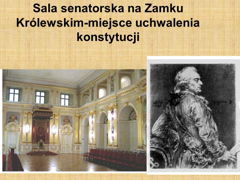 Sala senatorska na Zamku Królewskim-miejsce uchwalenia konstytucji
