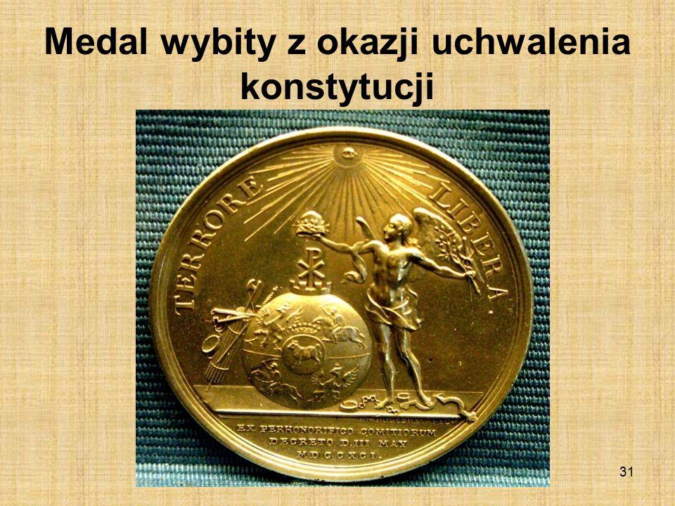 Medal wybity z okazji uchwalenia konstytucji