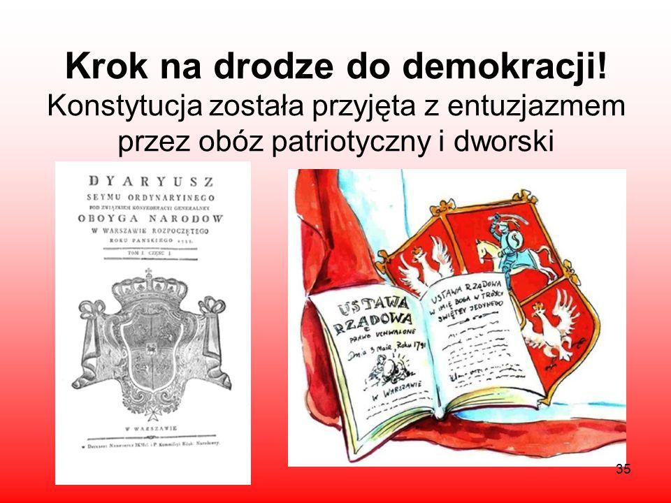 Krok na drodze do demokracji