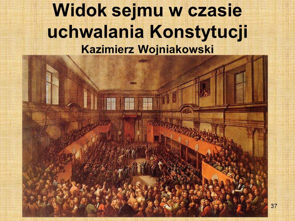 Widok sejmu w czasie uchwalania Konstytucji Kazimierz Wojniakowski