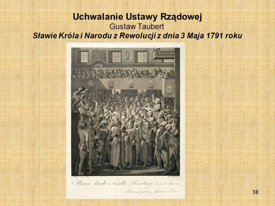 Uchwalanie Ustawy Rządowej Gustaw Taubert Sławie Króla i Narodu z Rewolucji z dnia 3 Maja 1791 roku